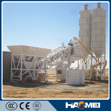 yhzs50/60 mobile concrete batching plant in Kenya