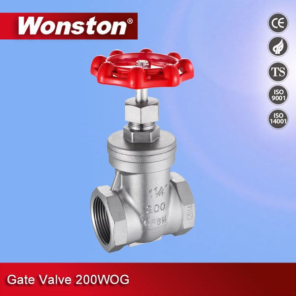 High Quality Stainless Steel Gate Valve 200WOG