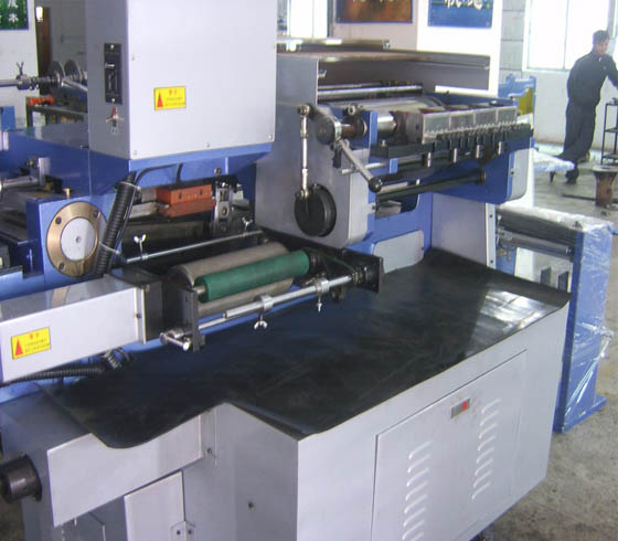 JH-250 Flat bed Lael Printing Machine with hot stamping device