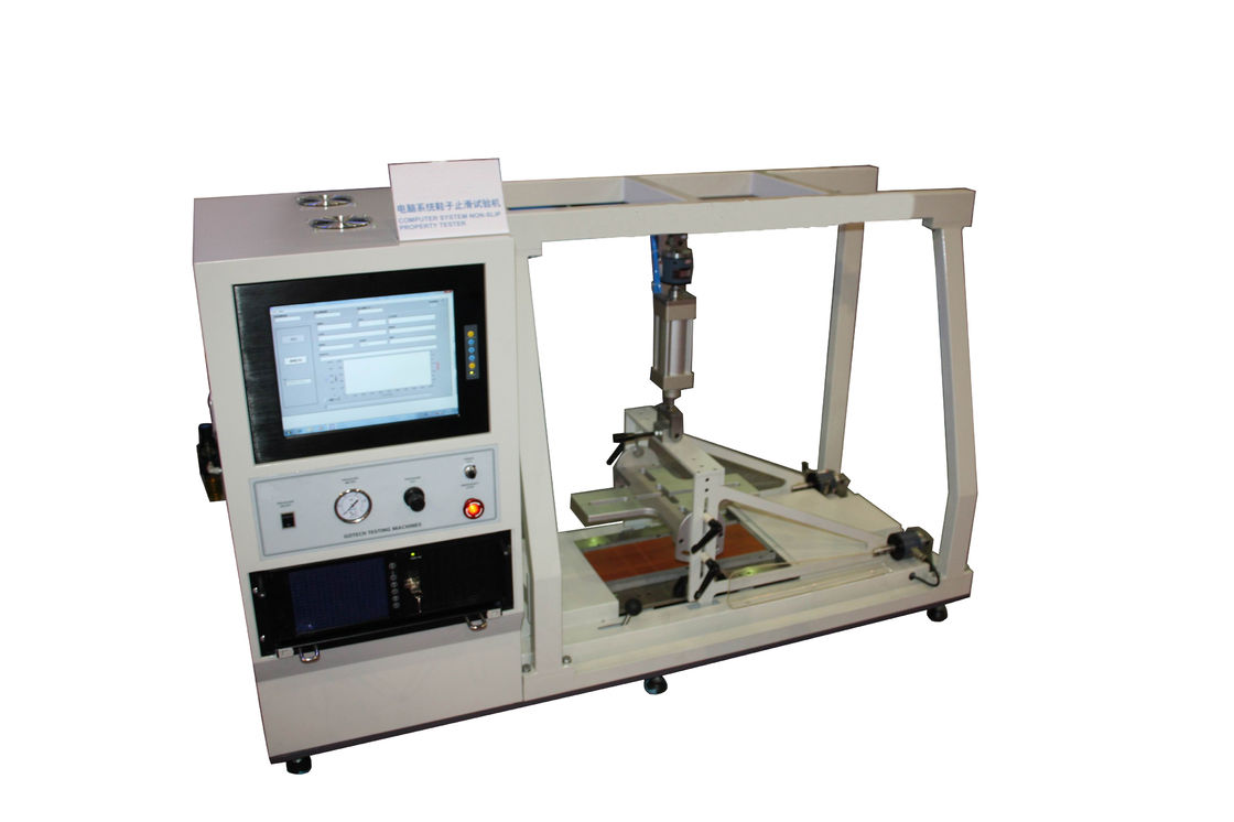 Friction Coefficient Footwear Testing Equipment For Floorings Computer System