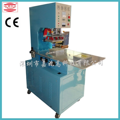 Single-head two-position rotary-type high frequency plastic welding machine