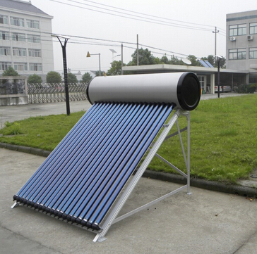 Intergrated pressure solar water heater with 10 bar  high pressure   2016 high efficiecy SRCC keymark Integrated heat pipe pressure solar water heaters    Model	Tube Specification	Tube Coating	Absorber Area square meter 	Frame Angel	Tank Capacity	Loading Quantity 	FOB Shanghai price  20GP	40GP	40HQ UAC-100H	Φ58mm*1800mm-10Pc	heat pipe	1.01  	45°/38°/25°	100L	68	143	168	$235.00 UAC-120H	Φ58mm*1800mm-12Pc	heat pipe	1.21  	45°/38°/25°	120L	58	121	141	$275.00 UAC-150H	Φ58mm*1800mm-15Pc	heat pipe	1.39  	45°/38°/25°	150L	50	101	119	$343.00 UAC-180H	Φ58mm*1800mm-18Pc	heat pipe	1.82  	45°/38°/25°	180L	41	94	104	$390.00 UAC-200H	Φ58mm*1800mm-20Pc	heat pipe	2.02 	45°/38°/25°	200L	38	86	94	$433.00 UAC-250H	Φ58mm*1800mm-25Pc	heat pipe	2.50  	45°/38°/25°	250L	33	80	80	$537.00 UAC-300H	Φ58mm*1800mm-30Pc	heat pipe	3.04 	45°/38°/25°	300L	27	66	66	$639.00     this model of solar water heater is very very steady performance, free maintance, high pressure solar water heater, we sell thousands to Romania Greece,Portugal, Kennya, Ethiopia, USA,  Middle east, Jamaica,  and Russia as well. no water in the tubes, so antifreezing . in cold place            Specification: * Vacuum tubes: Φ 58mm*1800mm with heat pipe inside *  Bracket: 2.0mm Alluminum alloy * Inner tank: 1.2mm SUS304-2B Stainless steel Dia 380mm * Outer tank: 0.4mm Galvanized steel Dia 490mm * Including P/T valves, magnesium Rod, electric heater * Max Pressure 10 bar, working pressure 6 bar