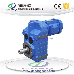 F parallel shaft helical gear reducer