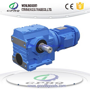 S helical gears - worm gear reducer