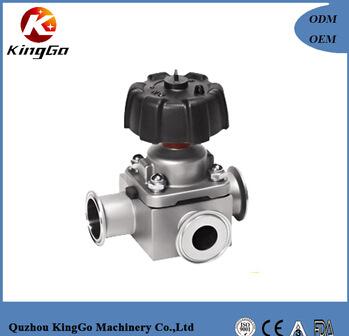 Stainless steel 316L manual sanitary diaphragm valve