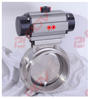 Sanitary clamp pneumatic butterfly valve