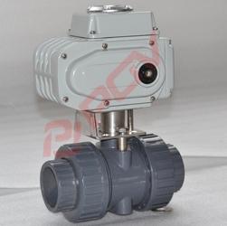 Plastic upvc electric ball valve