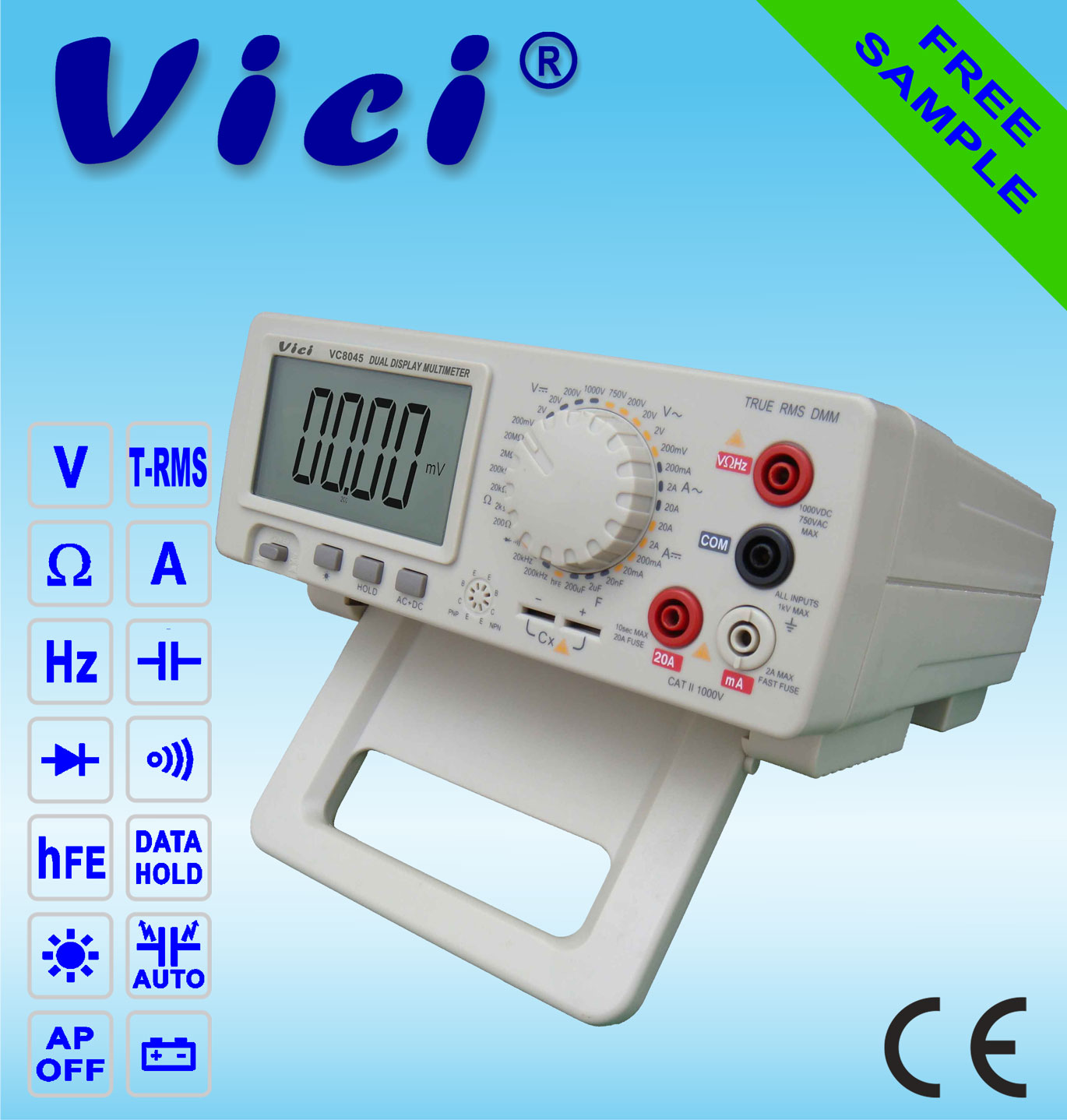 VC8045  4 1/2­­ Bench type digital multimeter