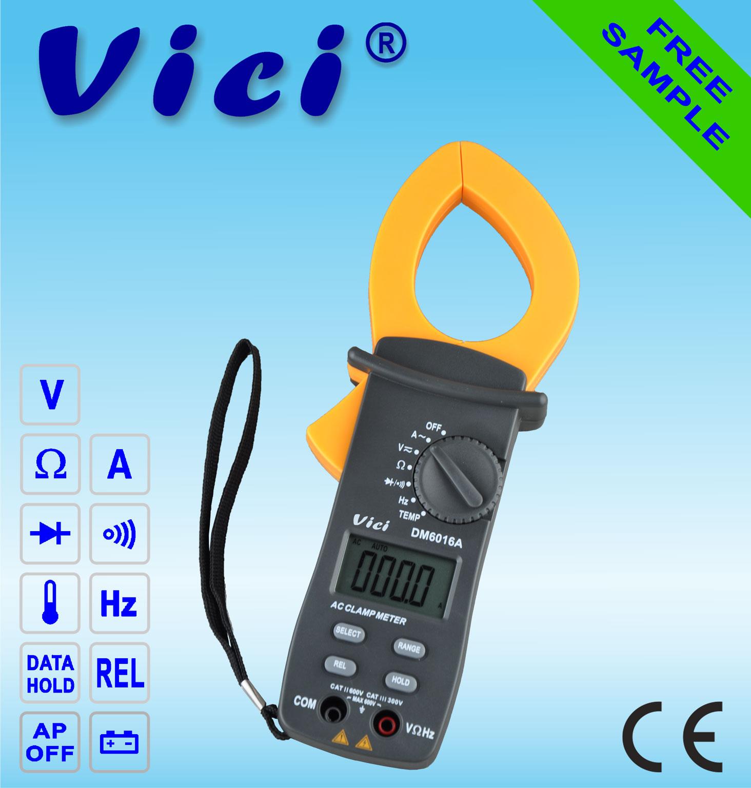DM6016A  3 3/4 Digital clamp multimeter