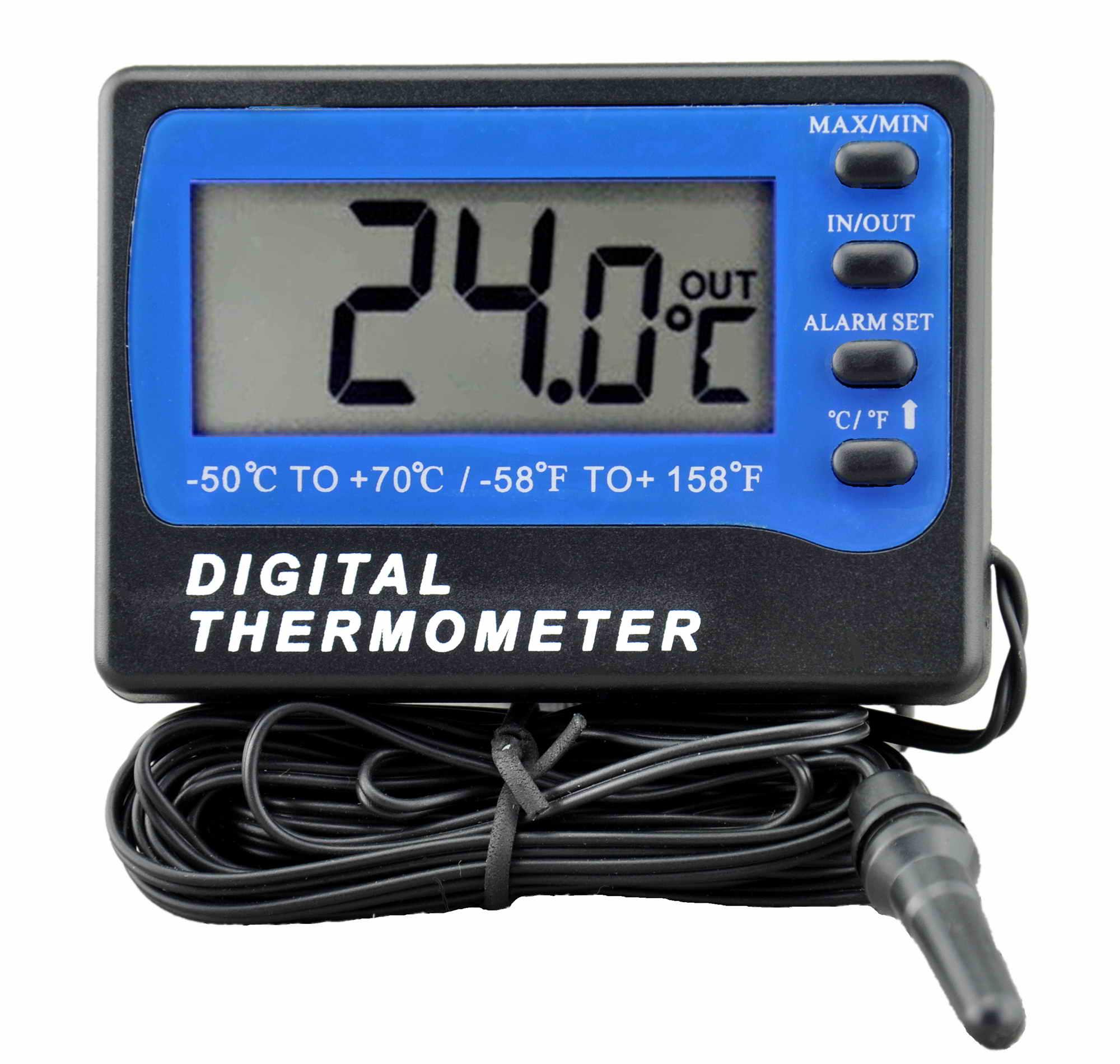 TM803 Fridge / Freezer thermometer with alarm (Black)