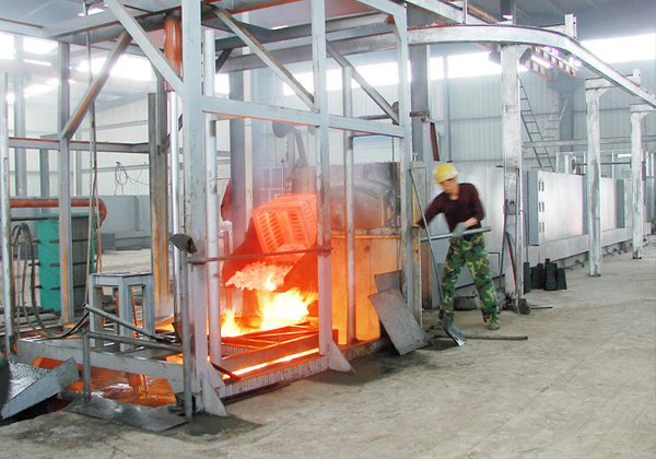Pusher type furnace plants