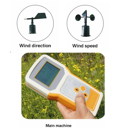 Portable Wind speed and direction meter TPJ-30