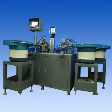 Three blade disposable razor automatic assembly equipment