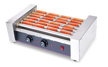 Commercial roller hot dog warmer