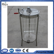 Two frames manual transparent plastic honey extractor