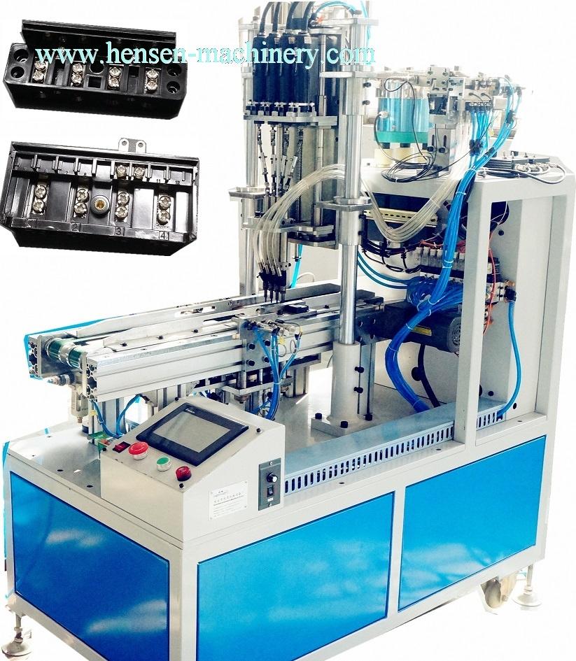 Terminal board screwing machine