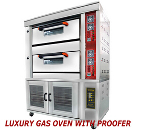 2 Decks 4 Trays Luxury Gas Oven with Proofer