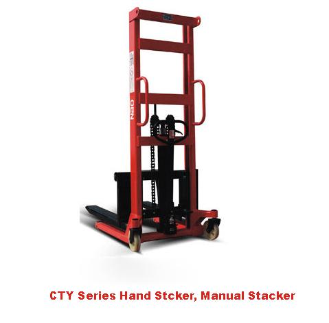 1.5 ton manual stacker, hand stacker