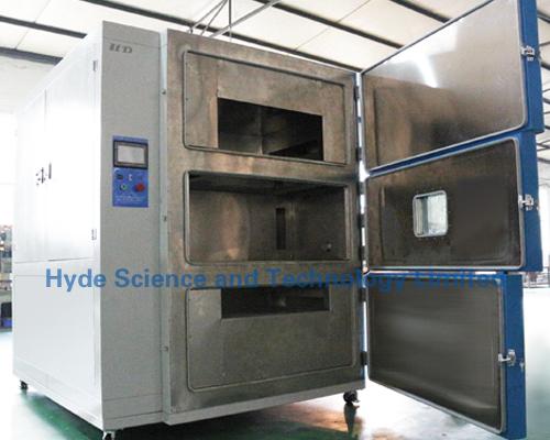 Thermal shocking testing chamber (3 areas)