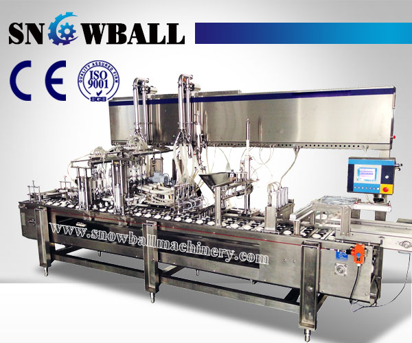 Linear Ice Cream Filling Machine Cornetto Filling Machine