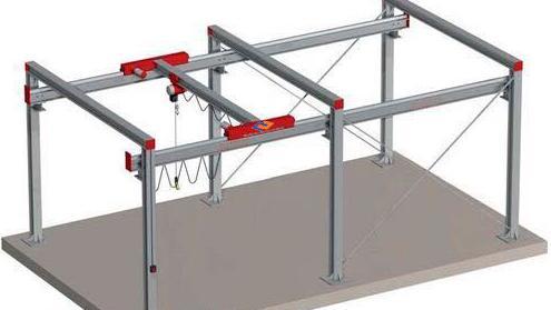 The variable-length two-rail gantry crane(P400 ...