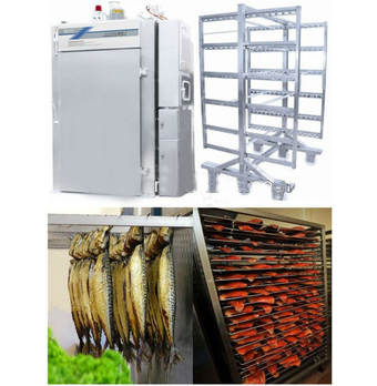 fish smoker machine with trolley