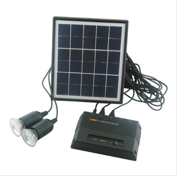 portable led solar home lighting system