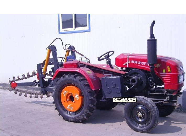 Powerful Ditcher machine tractors trencher equipment