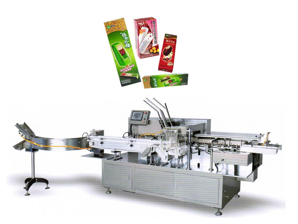 Automatic Ice Cream Boxing Machine, Box Packing Machine, Ice Cream Bar Boxing Machine