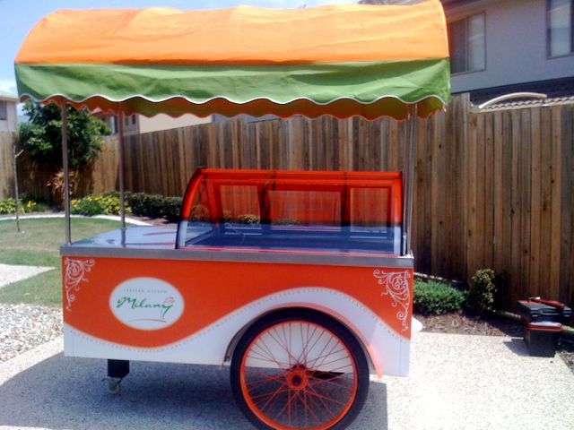ice cream showcase cart