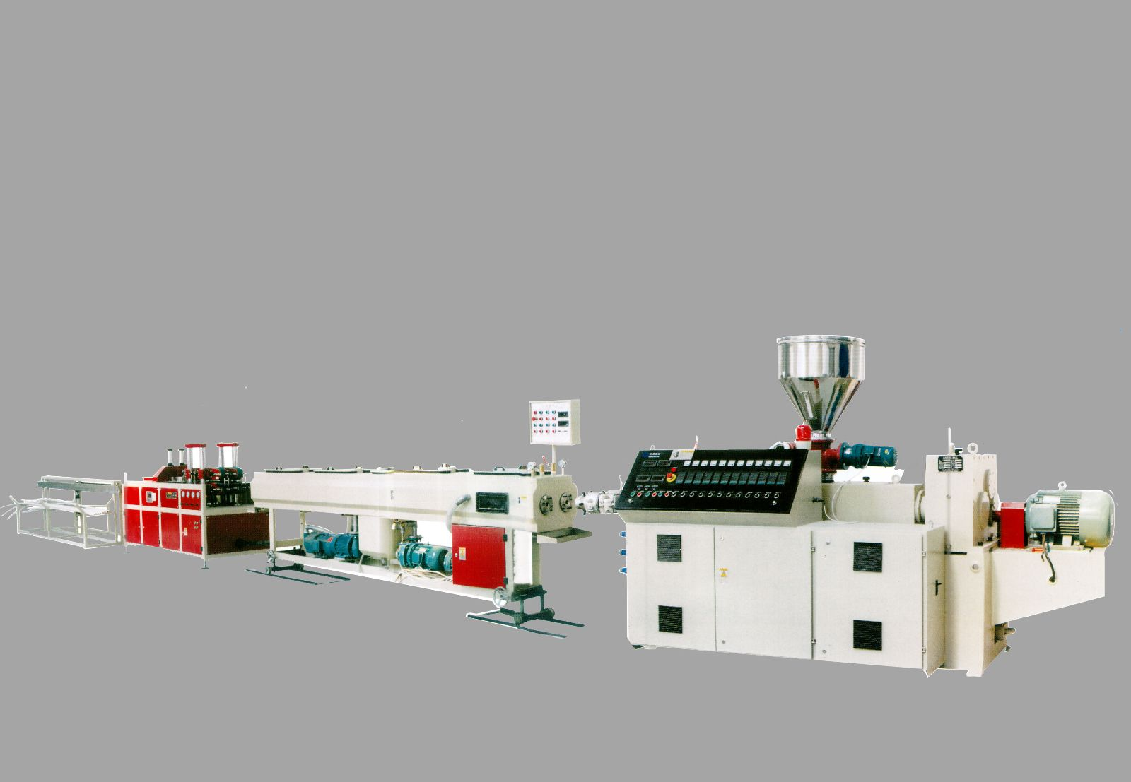 upvc double pipe extrusion line