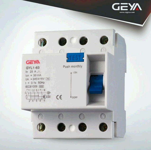 4P F364 RCCB/RCD/Residual Current Circuit Breaker